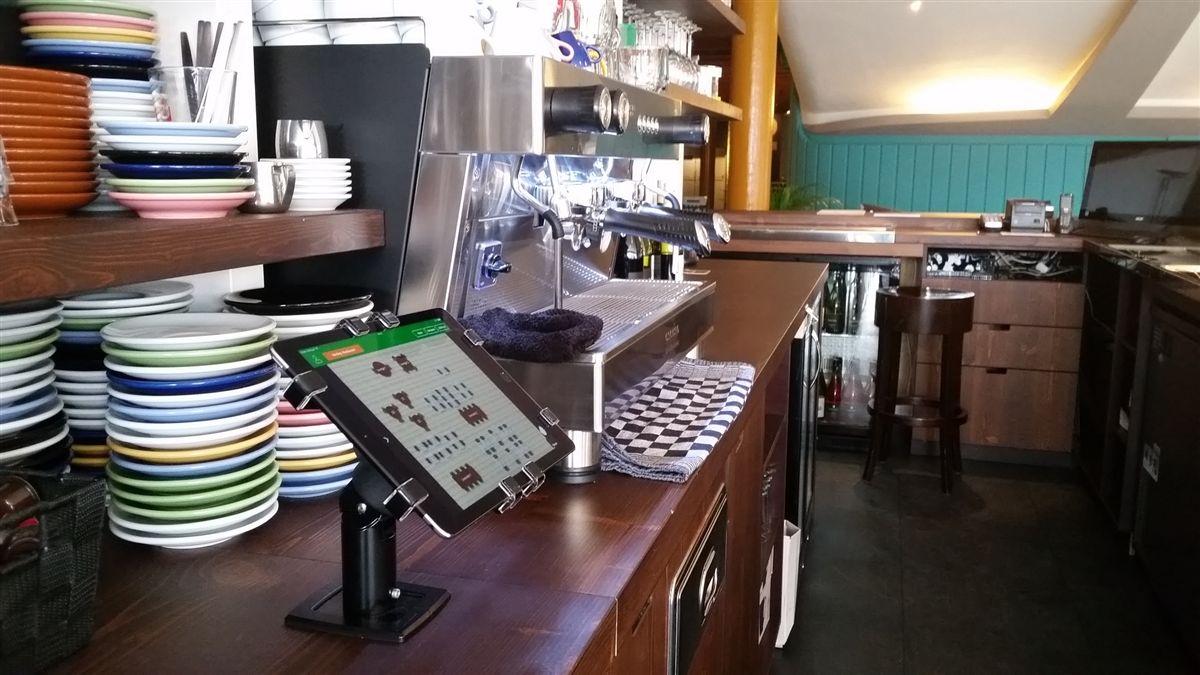 平板防盜支架,平板防盜鎖,平餐廳也使用Gripzo的平板防盜鎖立架,平板電腦防盜鎖架