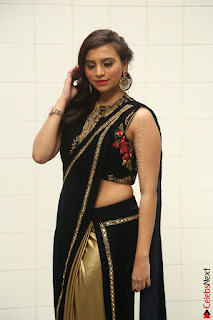 Priyanka Ramana in Beautiful Designer Black Saree At We Craft Elegance Expo Launch 045.JPG