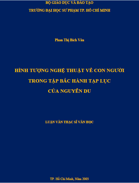 Hình tượng nghệ thuật về con người trong tập Bắc hành tạp lục của Nguyễn Du