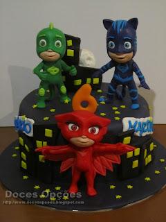 Os PJ Masks no aniversário dos gémeos