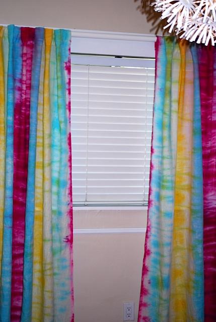 DIY Tie Dye Curtains The Salvage Snob