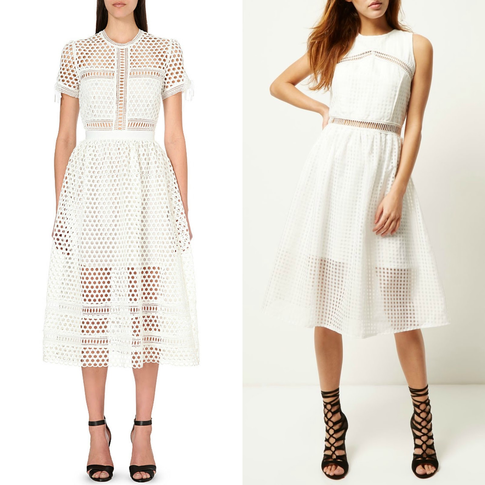Highstreet white lace dress