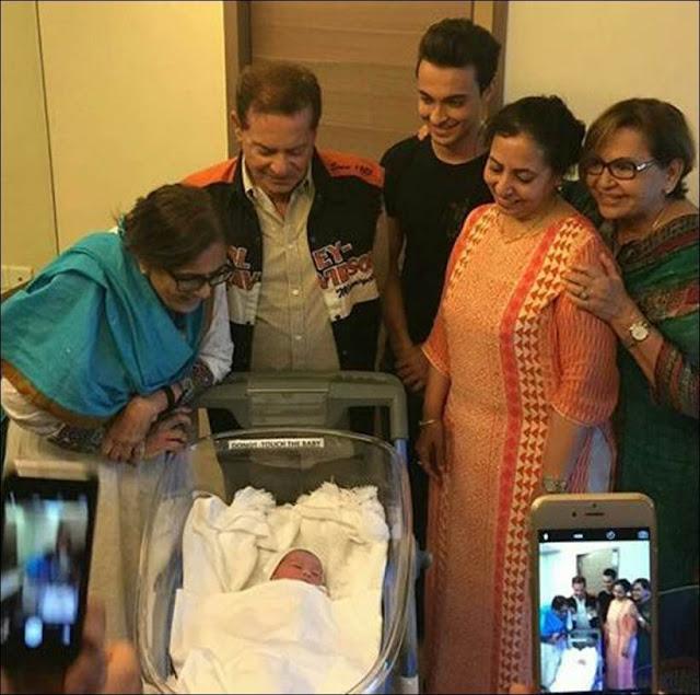 In Pics, Salman Khan With His Newborn Nephew
