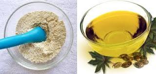 Oatmeal dan minyak jojoba
