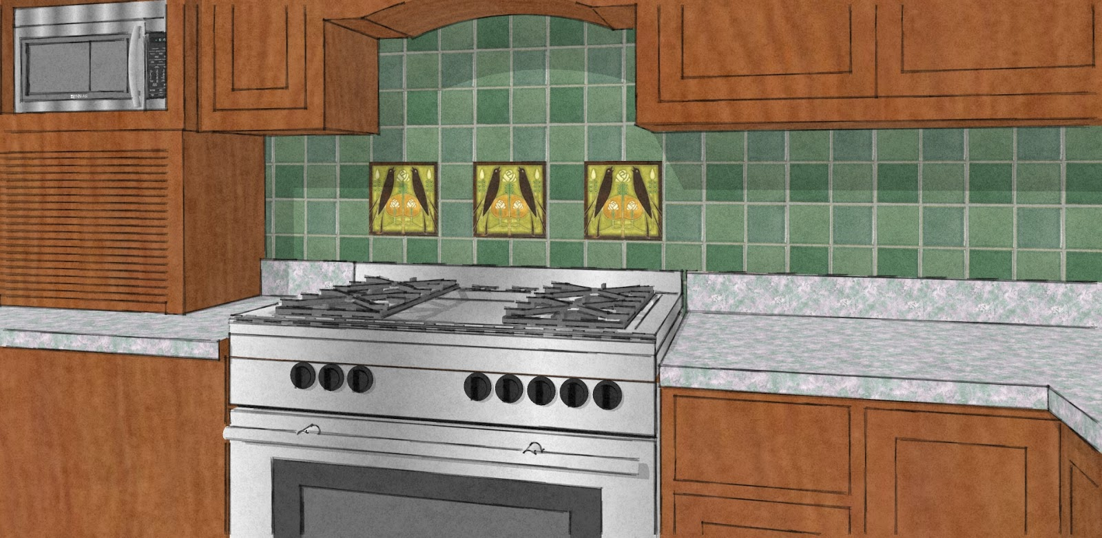 craftsman kitchen backsplash refacing thermofoil cabinets arts and crafts tiles for tile design ideas