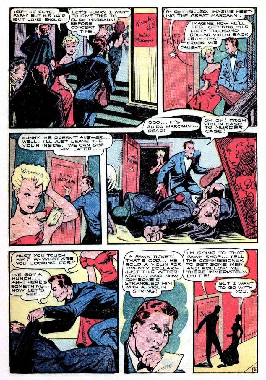 All-Famous Police Cases v1 #7 - Matt Baker golden age crime comic book cover art