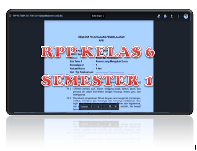 Download RPP K13 Revisi 2018 Kelas 6 SD Semester 1