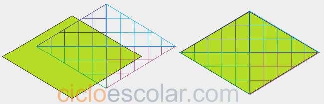 Como calcular el área de un rombo figura 4