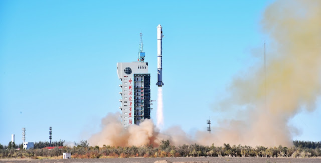 Long March 2C rocket carrying two Yaogan-32 satellites lifts off on October 9, 2018. Photo Credit: Xinhua/Wang Jiangbo