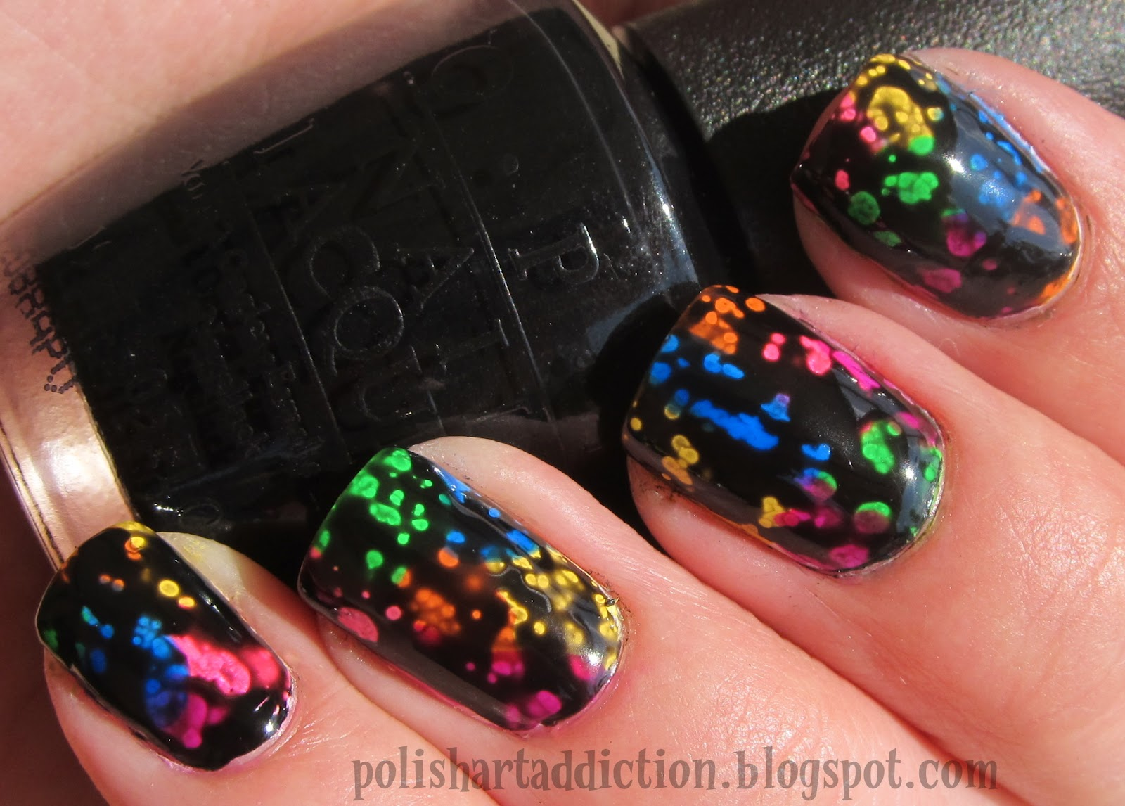 OPI Black Spotted Over Neons