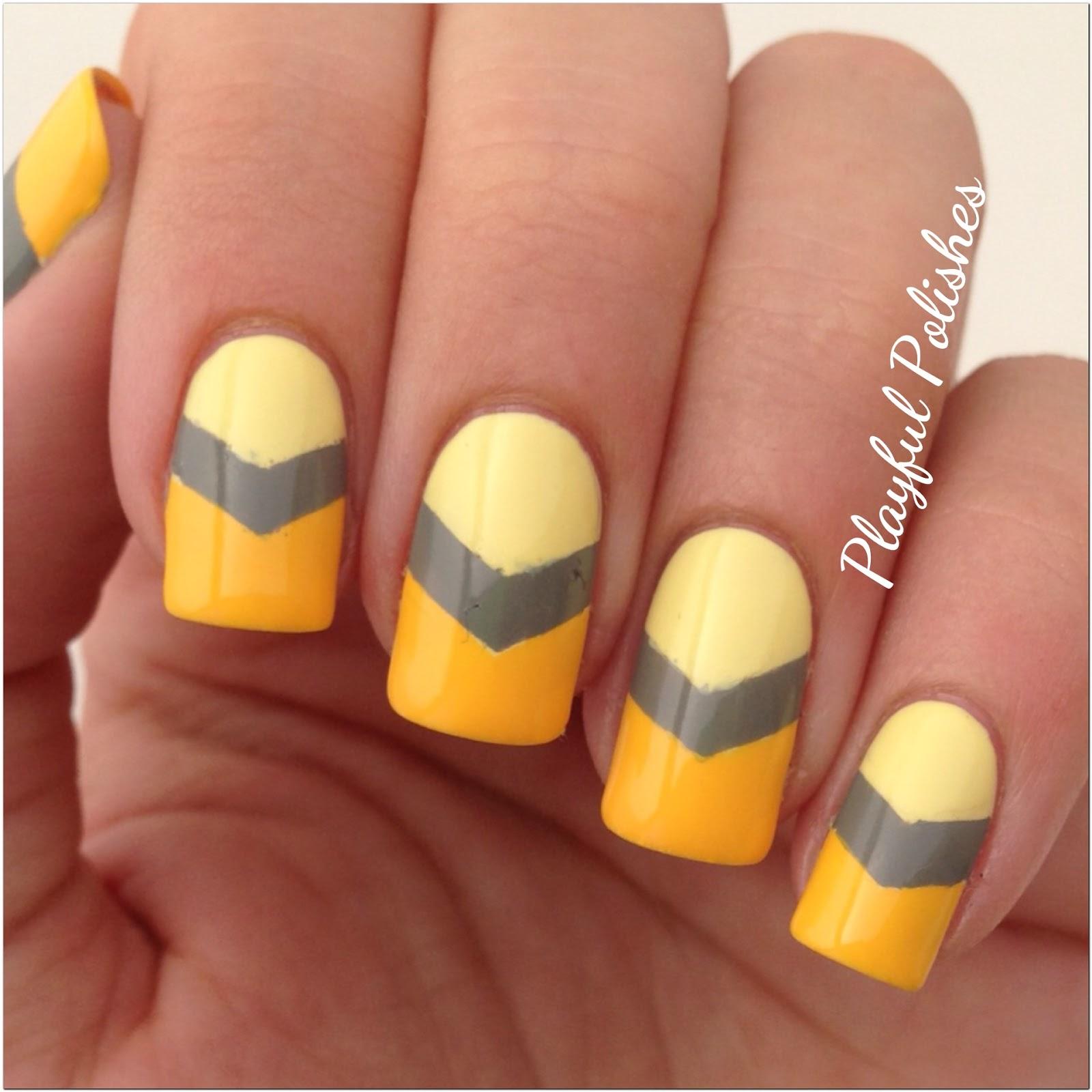 Yellow Nail Polish On: Playful Polishes: 31 DAY NAIL ART CHALLENGE: YELLOW NAILS