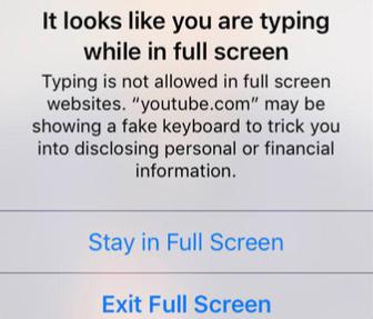 يحتوي سفاري في iOS 12 على حماية ضد لوحات المفاتيح المزورة