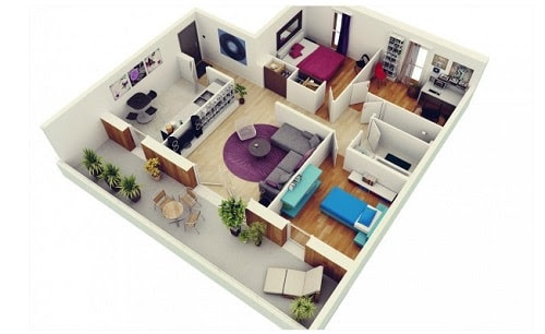 15 Examples of the Best 3D Modern Floor Plan You Can Choose - | Interior design