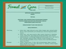 Download Contoh SK Pengangkatan Guru & Tenaga Honorer Format Words