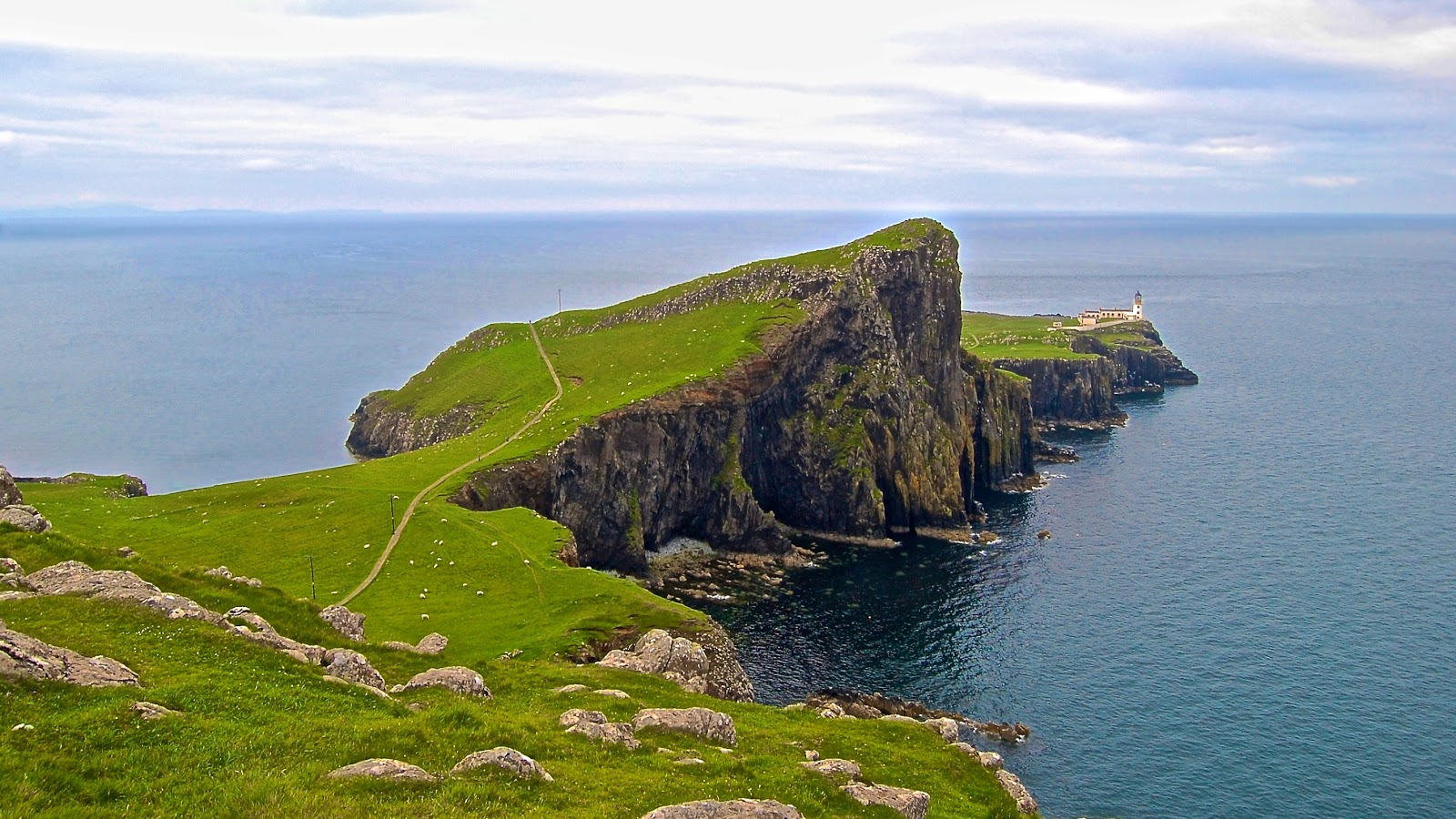 Neist Point Lighthouse on the Isle of Skye, Scotland