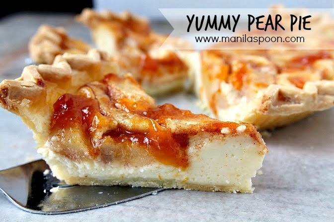 Yummy Pear Cheesecake Pie