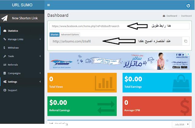 افضل موقع اختصار روابط للعرب 2018