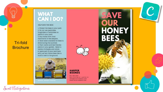 Example of a Canva brochure about Bees