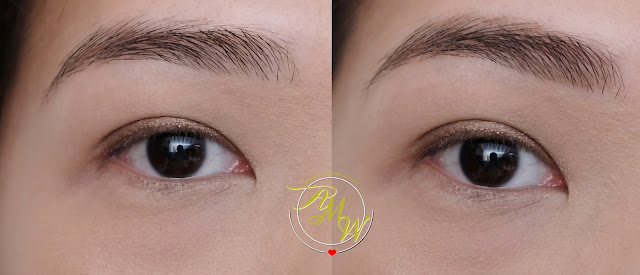 before and after photo of Clio Kill Brow Auto Hard Brow Pencil Natural Brown Review by AskMeWhats Nikki Tiu