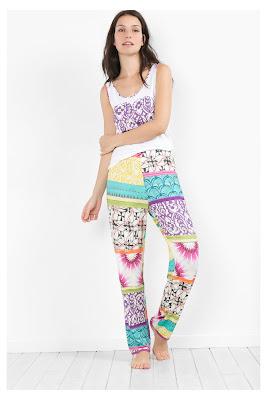 Botanical Stripes Desigual. Pantalón de pijama