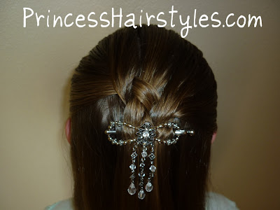 fancy woven half ponytail
