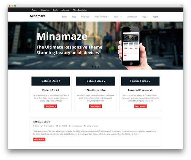 Minimaze wordpress theme
