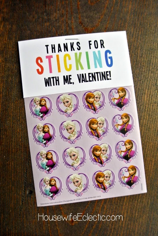 Free Printable Valentine Tag with 10+ Easy Gift Ideas - stickers