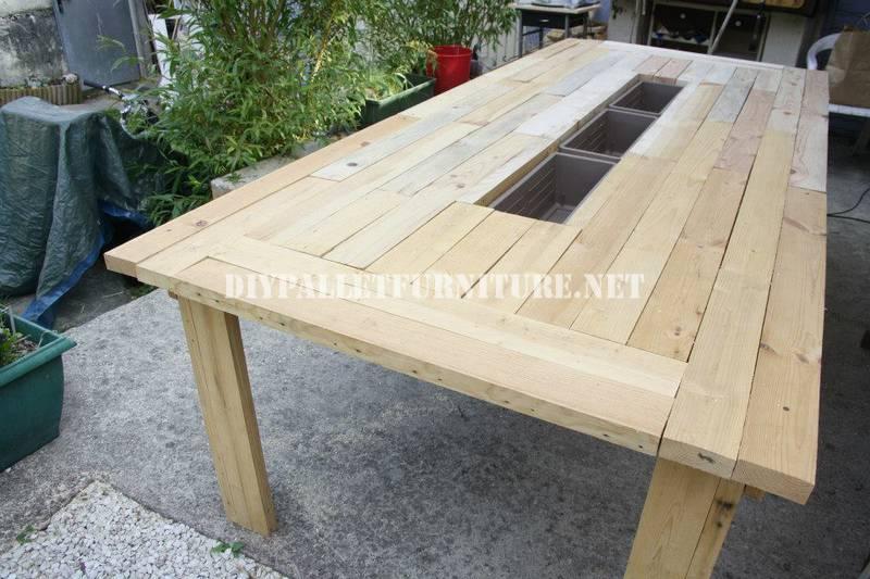 Mesa cubitera con palets - Como hacer una mesa con palets ...