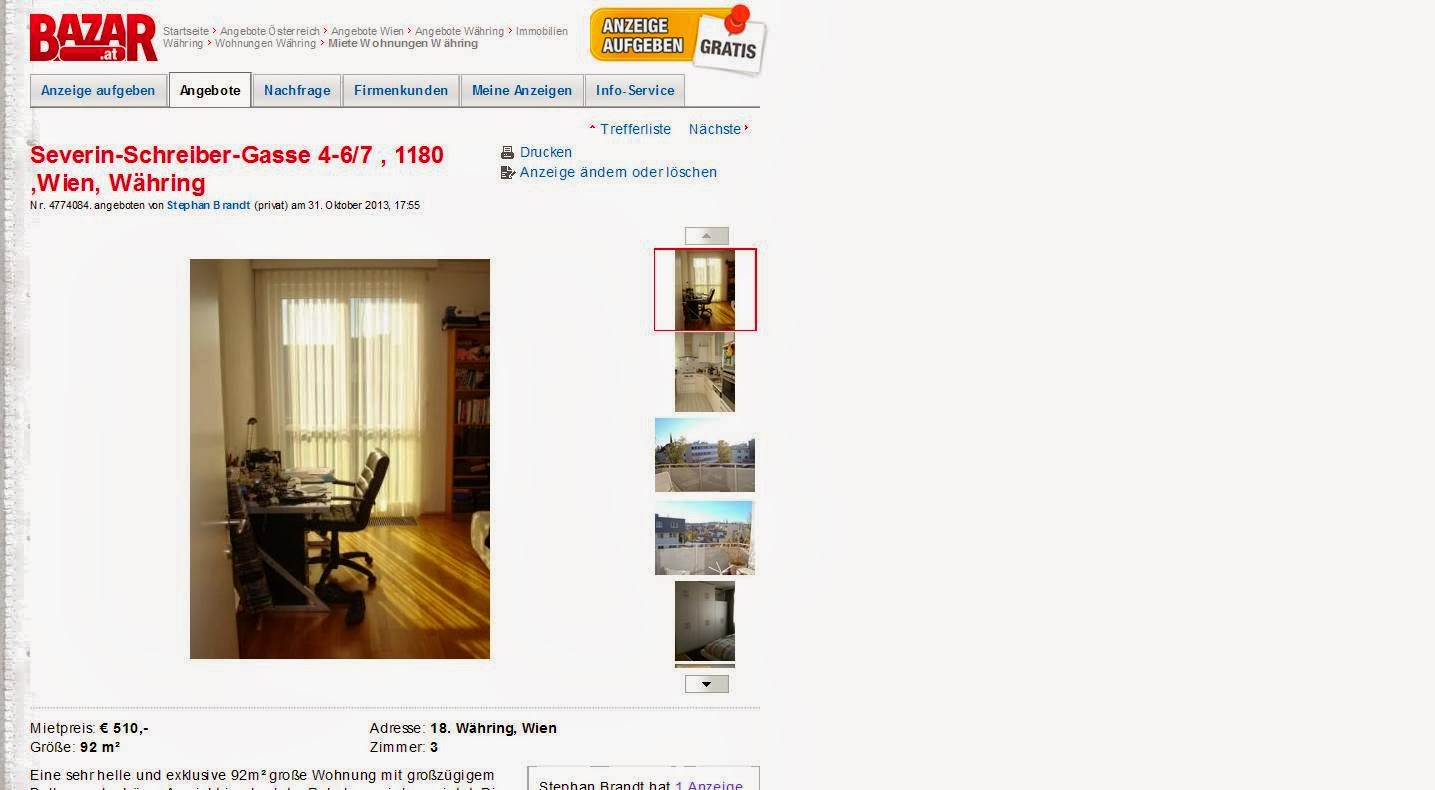 Wohnungsbetrugblogspotcom 31 Oktober 2013