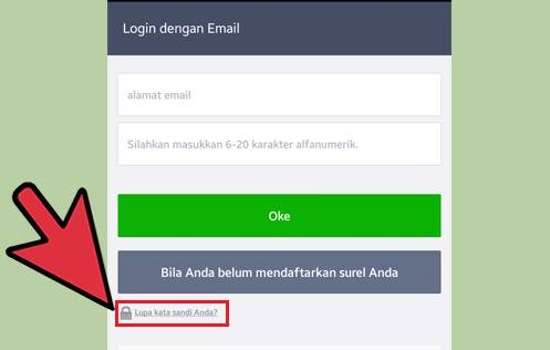 cara mengubah password line di android
