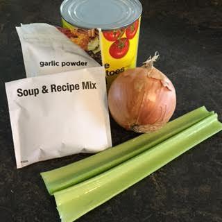 Bean soup ingredients