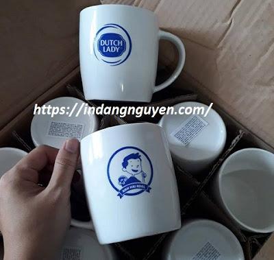 In logo lên gốm sứ, ấm chén, bát đĩa, cốc sứ làm quà tặng