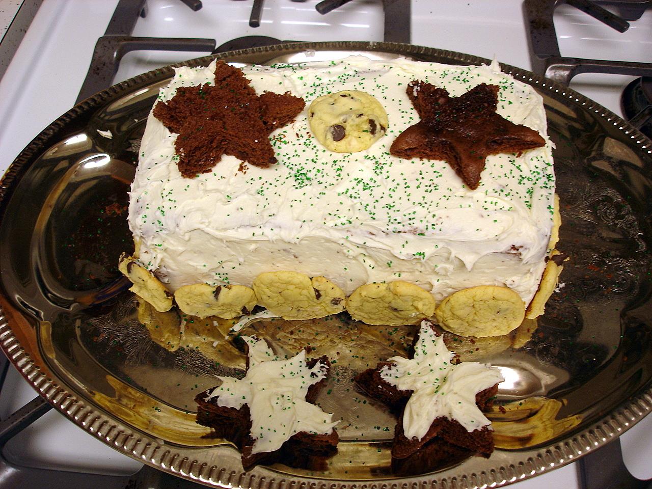 Sprinkle Decorated Square Cake