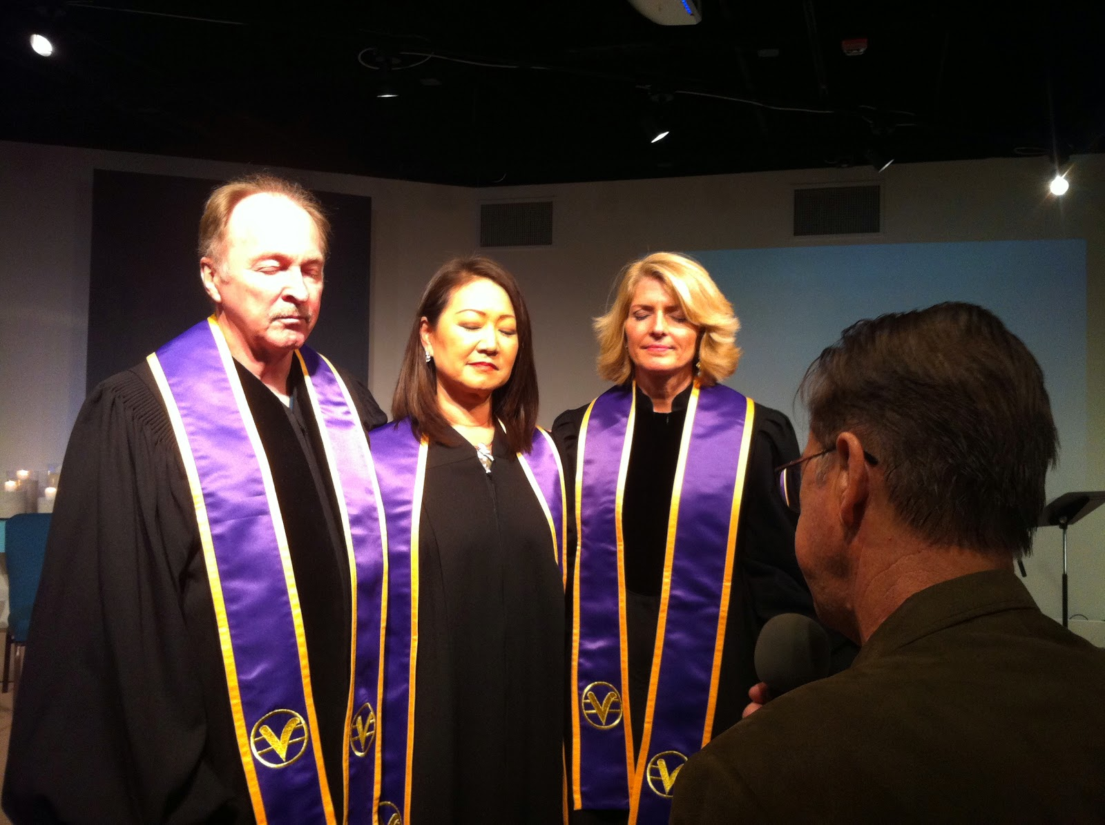 Rev. Bruce Fredenburg, Rev. Karyn Allen, Rev. Pattie Mercado,