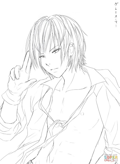 Click The Noah Anime Boy By Reixjune Coloring Pages
