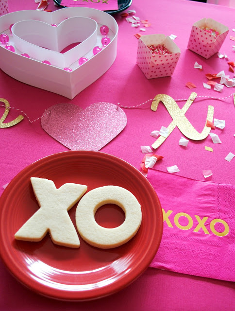 Galentine's cookie decorating party