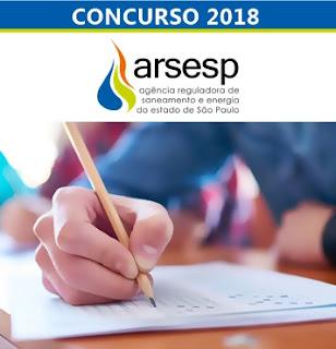Edital Concurso Arsesp 2018
