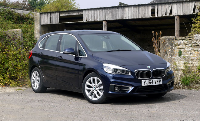 BMW 218d Active Tourer front view