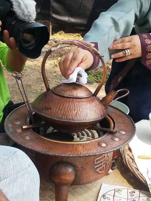 interesting stove at the Myeongjae mansion