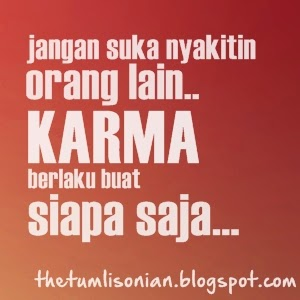 Gambar DP BBM Kata Kata Karma tentang Cinta