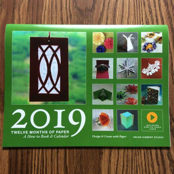 Twelve Months of Paper 2019 Calendar and How-to Book