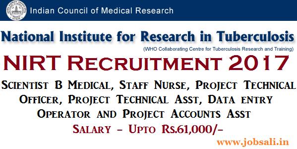 NIRT Chennai Recruitment, Govt staff Nurse jobs, Govt jobs in Chennai