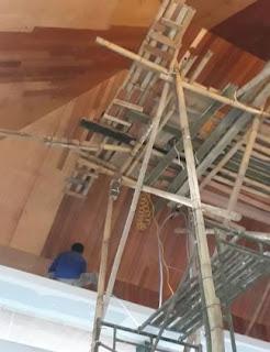 Plafon kayu Kumea sebagai plafon dengan kayu keras berkualitas