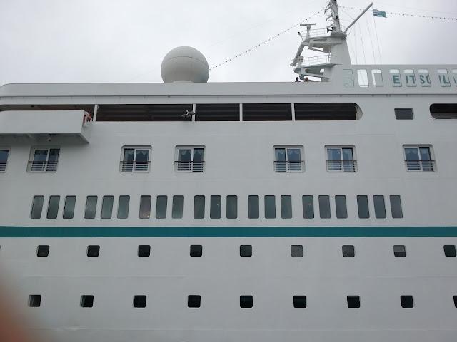 Cruise ship Deutschland in Bergen, Norway on a fjord cruise