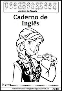 Capa caderno de inglês