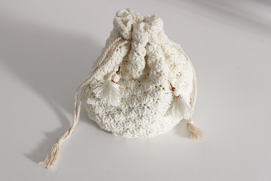 regency reticule crochet bag yarn diy