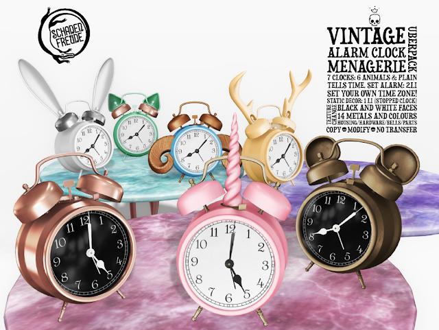 Schadenfreude Vintage Alarm Clock Menagerie