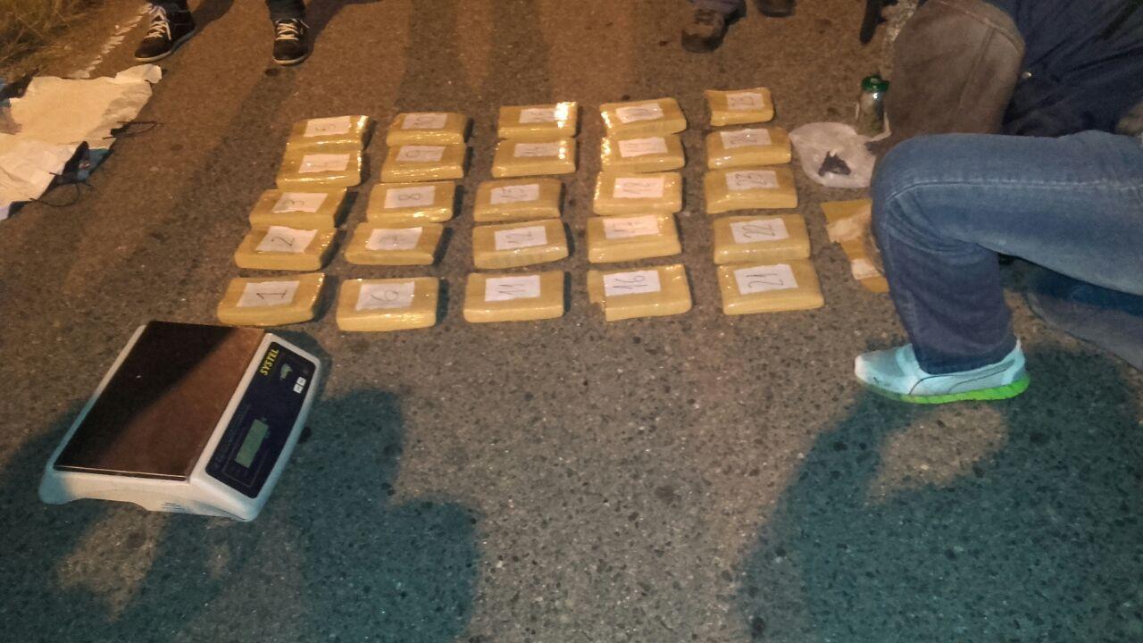 Lucha contra el narcotráfico: secuestraron 18 kg. de marihuana