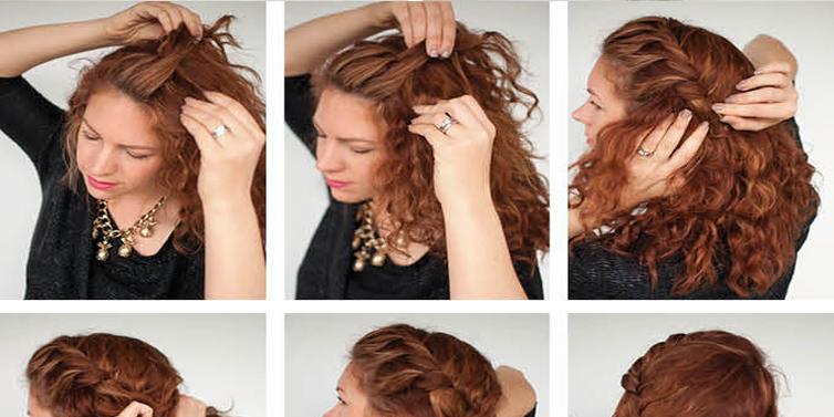 Pleasing Quick Everyday Curly Updo Hairstyle Tutorial Calgary Edmonton Short Hairstyles Gunalazisus