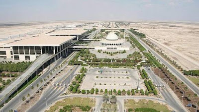 Raja Fahd International Airport di Arab Saudi (77600 hektar)